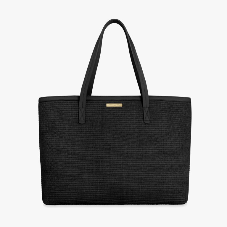 Callie Large Tote Beach Bag | Black