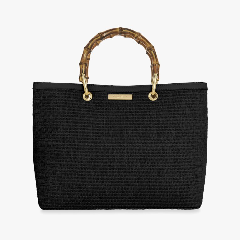 Callie Bamboo Handbag | Black