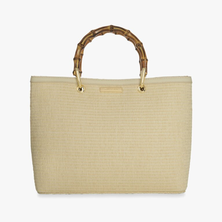 Callie Bamboo Handbag | Natural