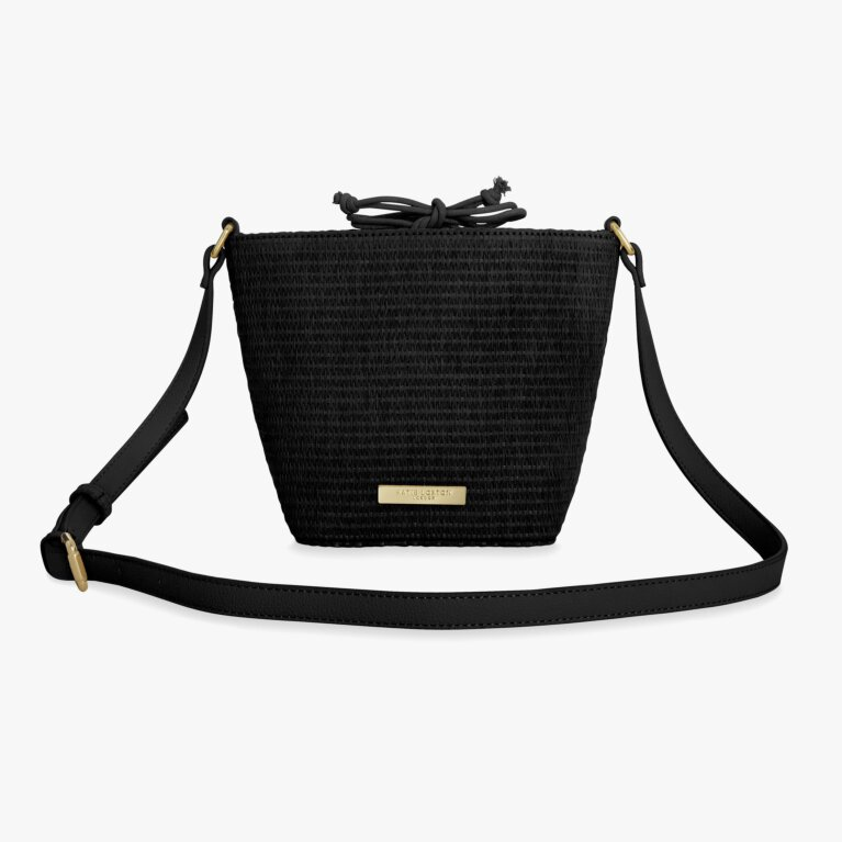 Callie Straw Crossbody Bag | Black