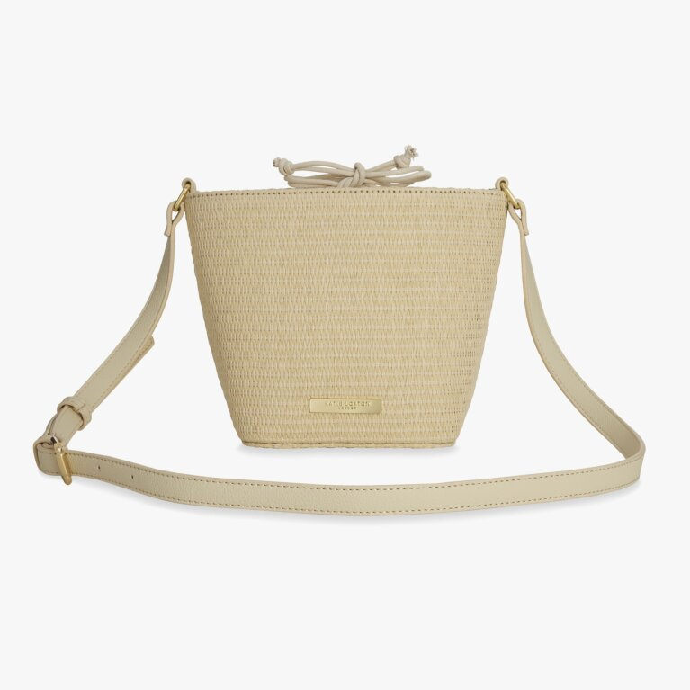 Callie Straw Crossbody Bag | Natural