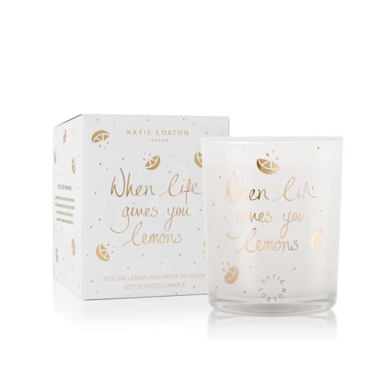 When Life Gives You Lemons Candle | Sicilian Lemon And White Blossom