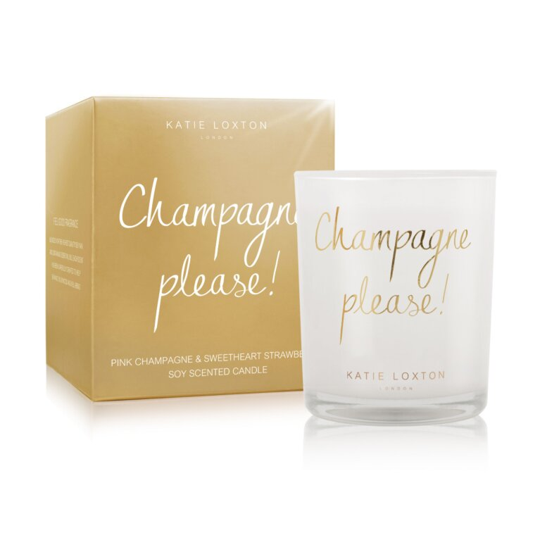 Champagne Please Candle | Pink Champagne And Sweetheart Strawberry
