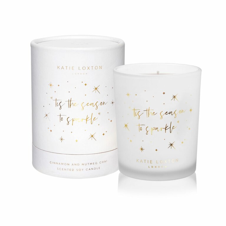 Tis The Season To Sparkle Candle | Cinnamon and Nutmeg Chai