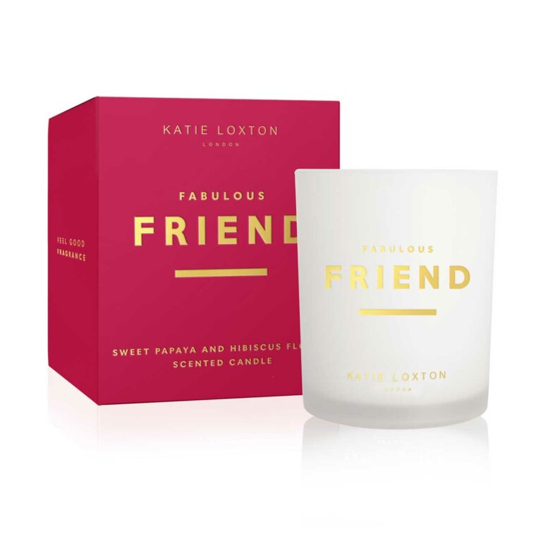 Sentiment Candle | Fabulous Friend | Sweet Papaya and Hibiscus Flower