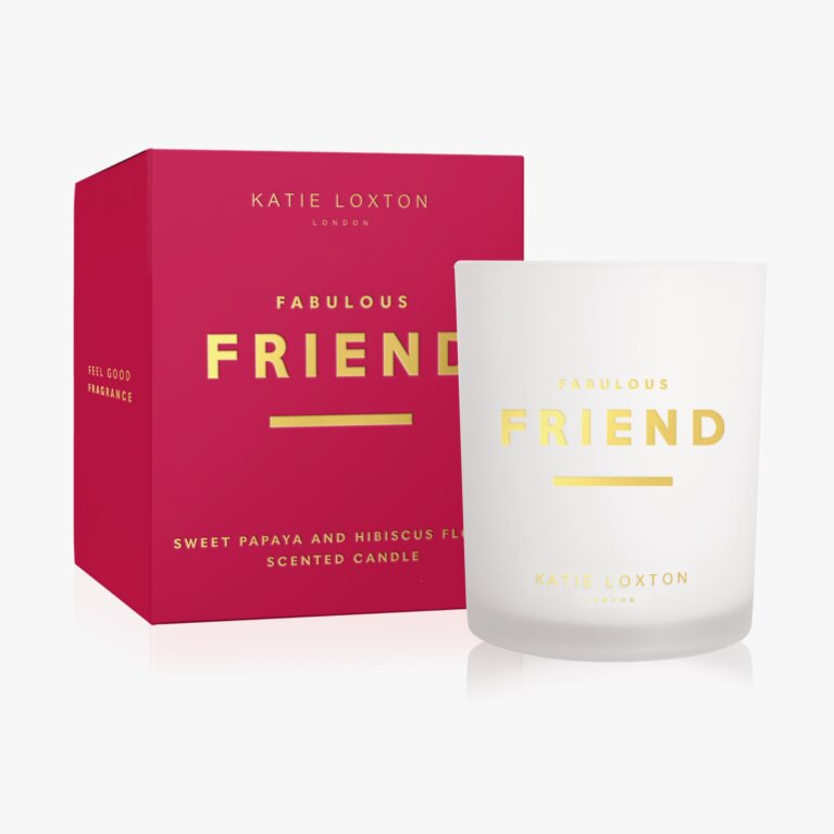 Sentiment Candle Fabulous Friend Sweet Papaya And Hibiscus Flower