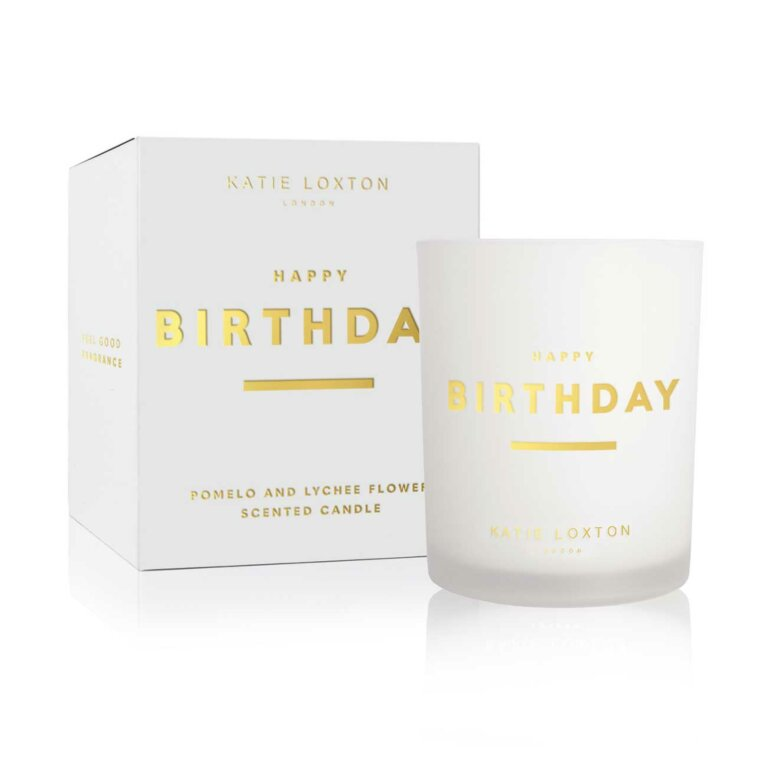 Sentiment Candle | Happy Birthday | Pomelo and Lychee Flower