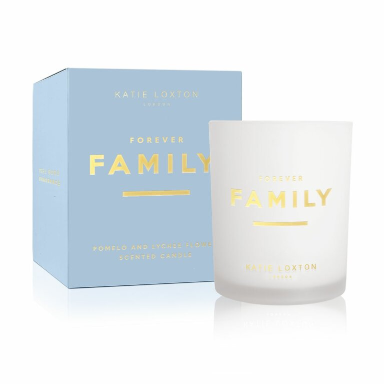 Sentiment Candle | Forever Family | Pomelo and Lychee Flower
