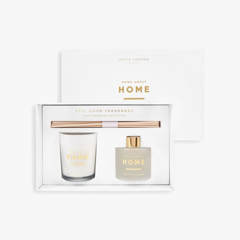 Sentiment Mini Fragrance Set Home Sweet Home White Orchid And Soft Cotton