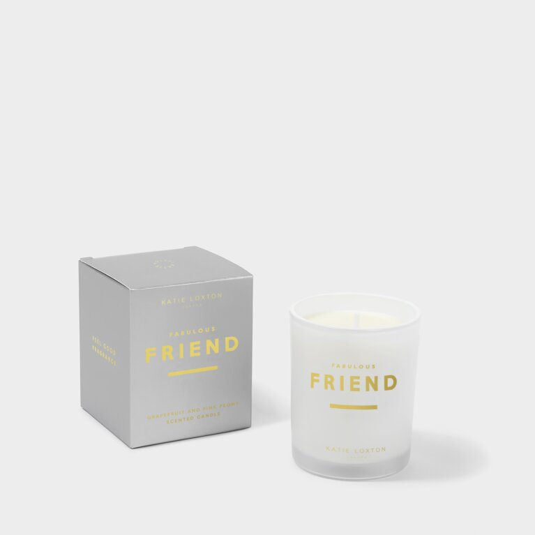 Sentiment Candle Fabulous Friend Grapefruit and Pink Peony