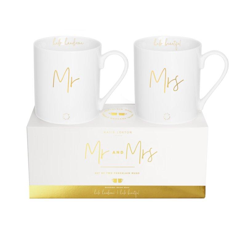 Porcelain Mug Gift Set Mr And Mrs