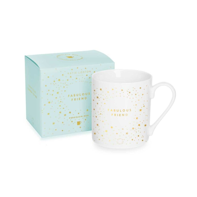 Porcelain Mug | Fabulous Friend | White and Gold