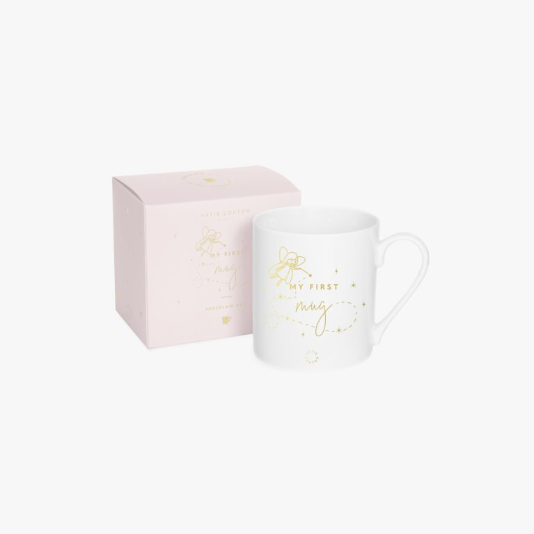 My First Baby Mug Fairy In White And Gold