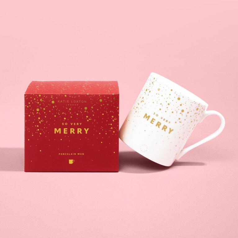 Boxed Porcelain Mug So Very Merry