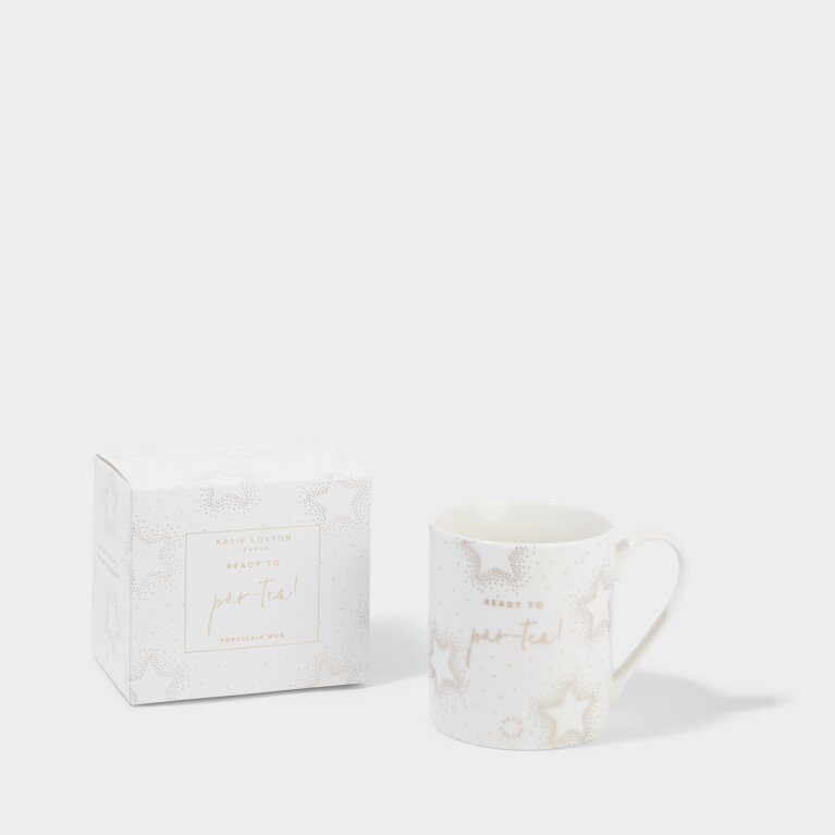 Boxed Porcelain Mug Ready To Par-Tea!