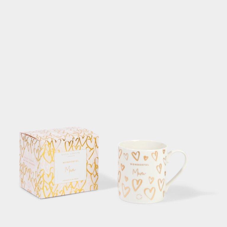 Boxed Porcelain Mug Wonderful Mum