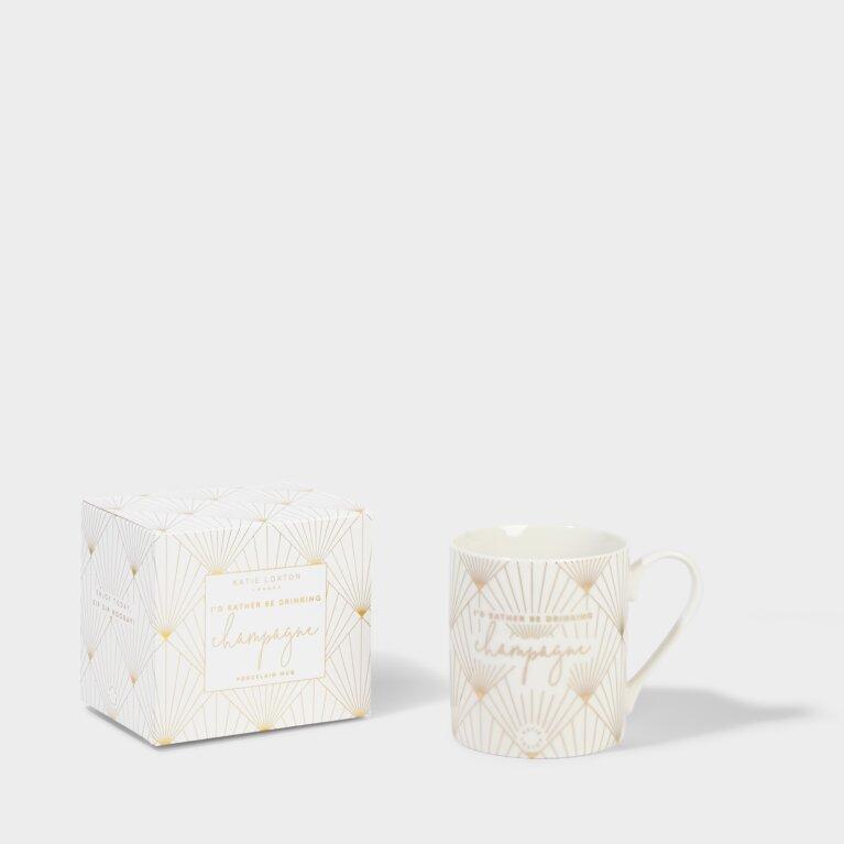 Boxed Porcelain Mug I'd Rather Be Drinking Champagne