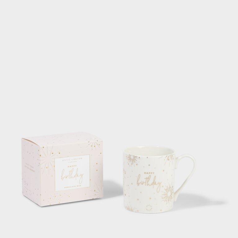 Boxed Porcelain Mug Happy Birthday