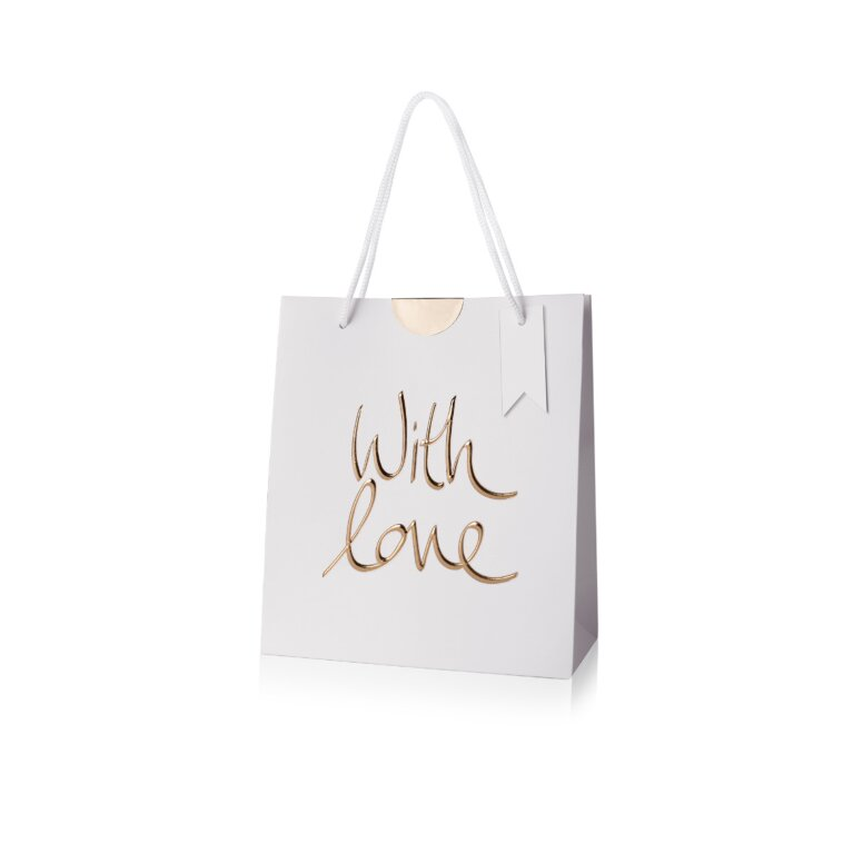 Gift Bag | With Love | Gold Writing