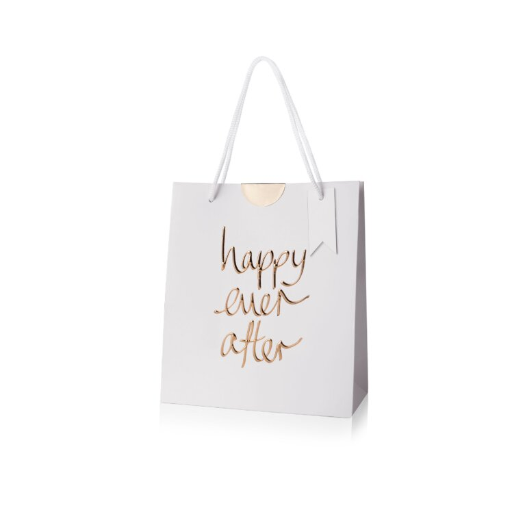 Gift Bag | Happy Ever After | Gold Writing