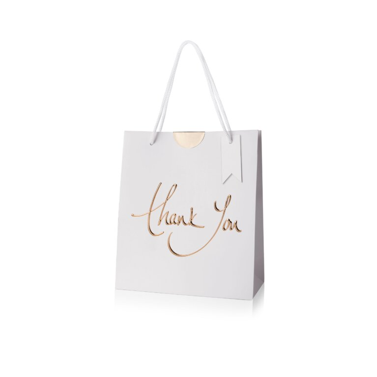 Gift Bag | Thank You | Gold Writing
