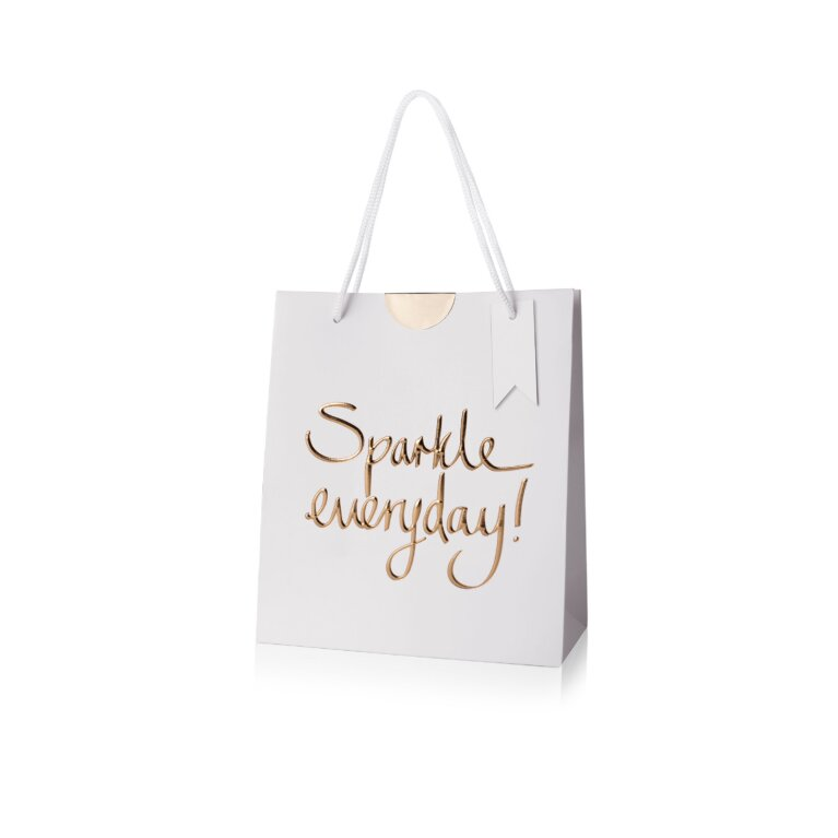 Gift Bag | Sparkle Everyday | Gold Writing