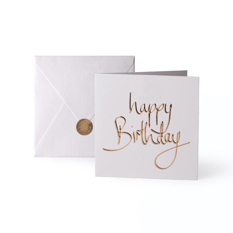 Greeting Card | Happy Birthday | Gold Writing