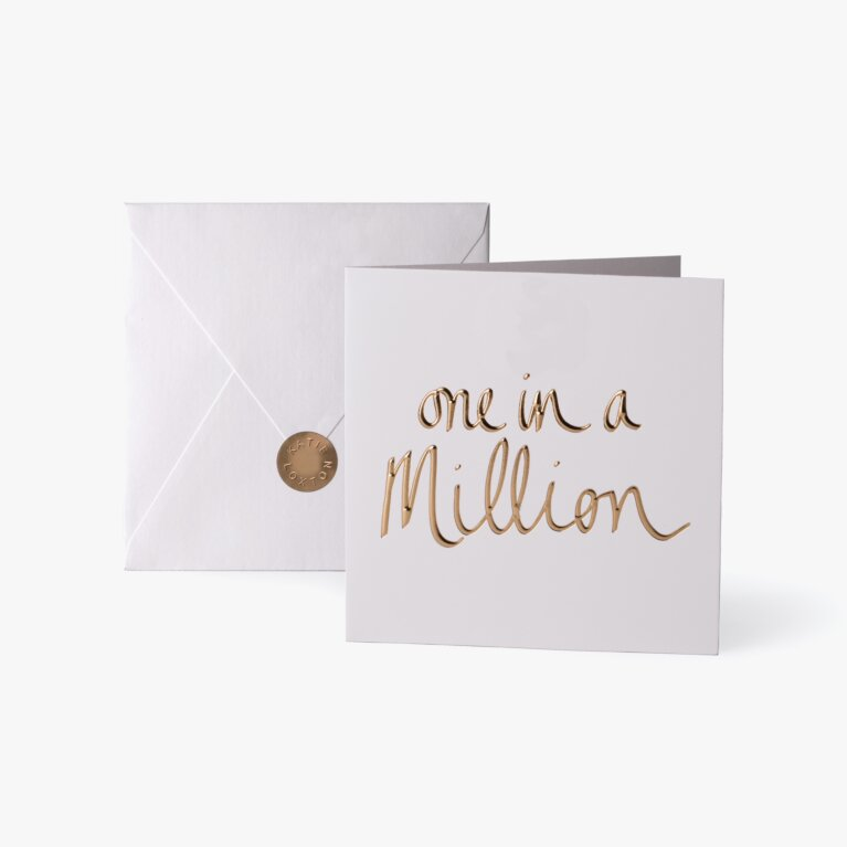 Greeting Card | One In A Million | Gold Writing