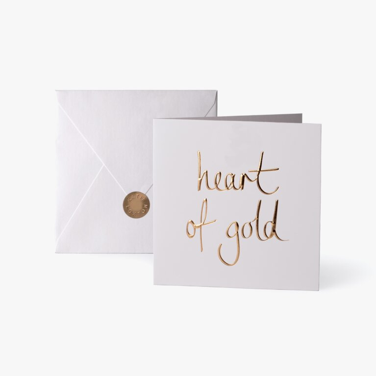 Greeting Card | Heart Of Gold | Gold Writing