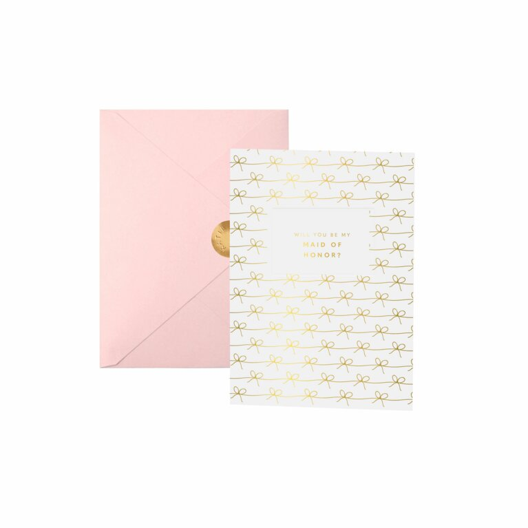 Bridal Greeting Card | Will You Be My Maid Of Honor?