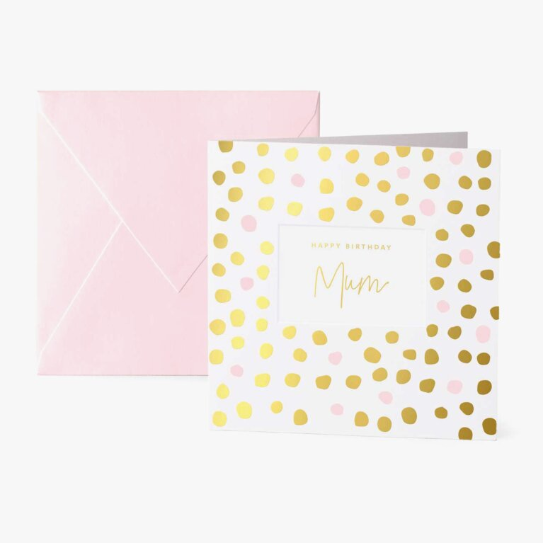 Square Greeting Card | Happy Birthday Mum