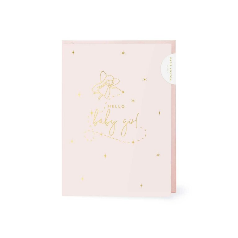 Baby Greeting Card Hello Little Girl