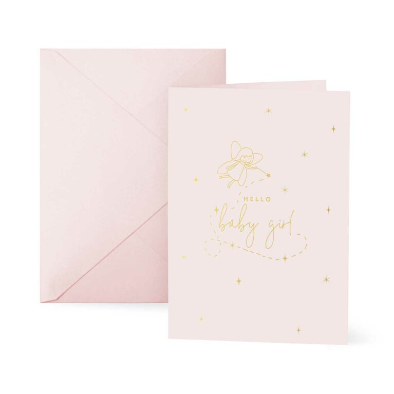 Baby Greetings Card | Hello Little Girl