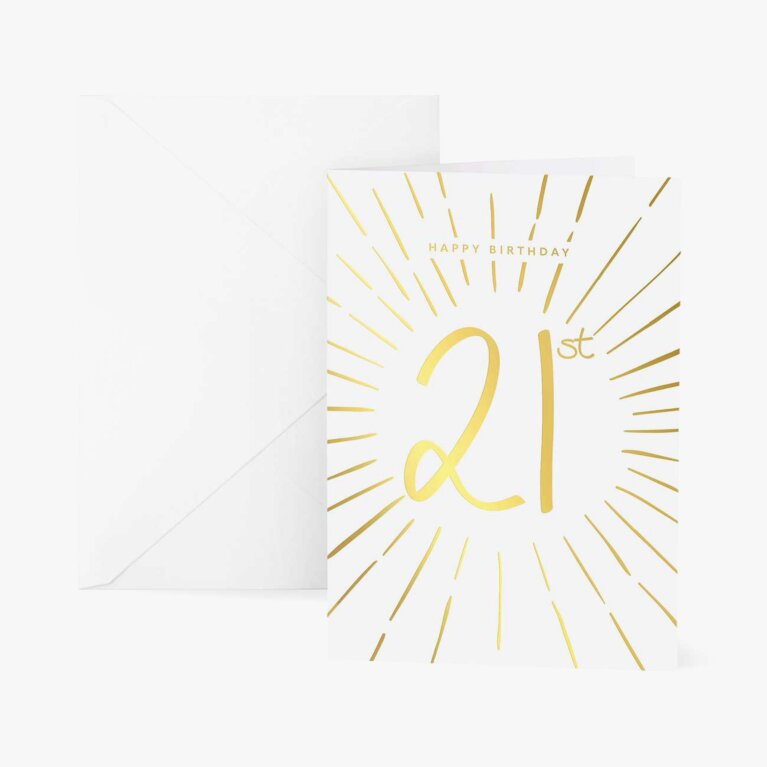 Greetings Card | Happy 21st Birthday