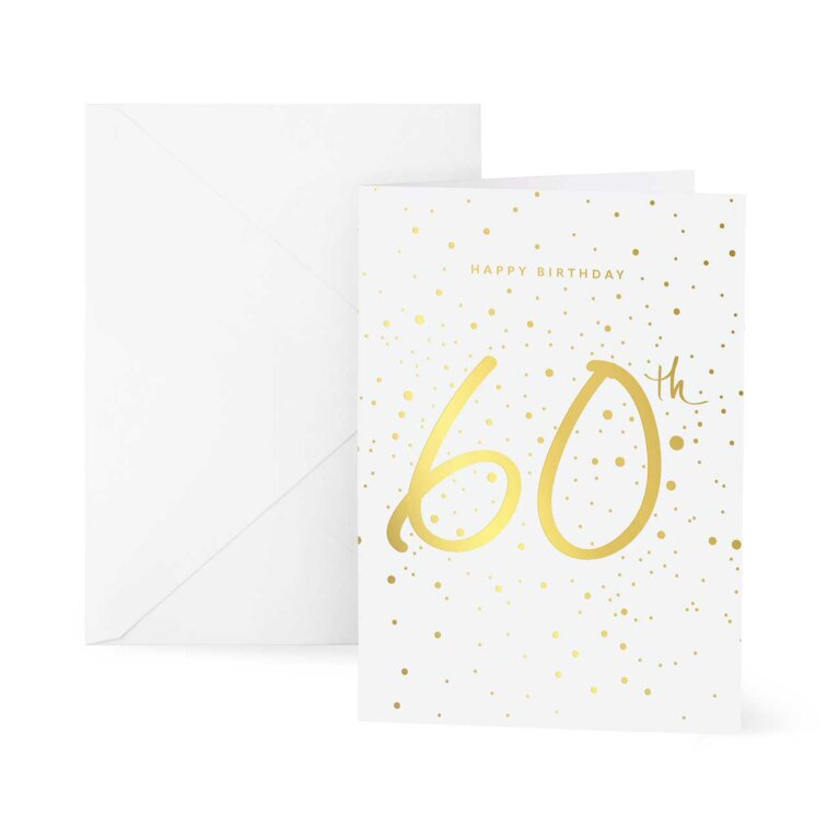 Greetings Card | Happy 60th Birthday