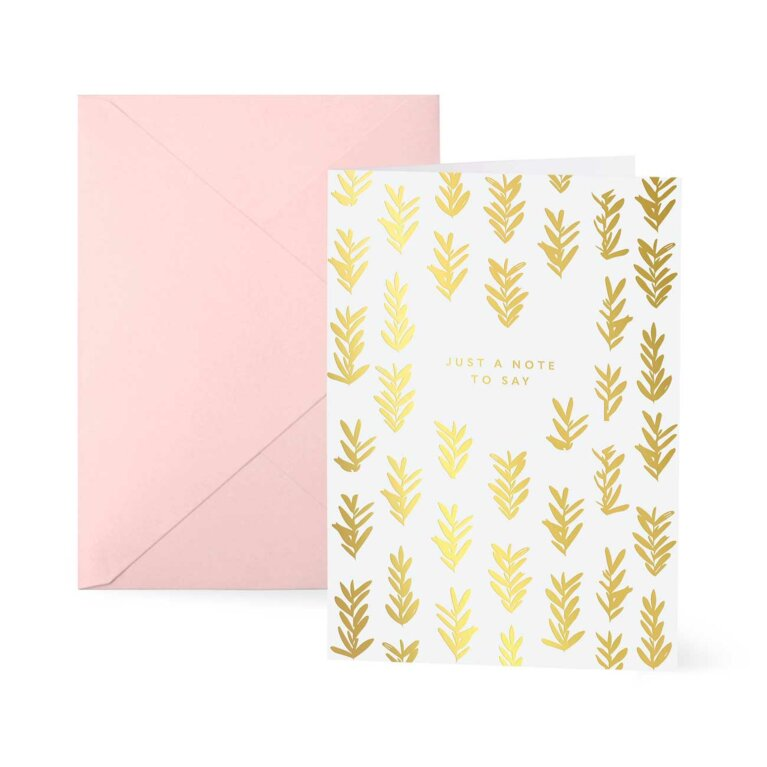 Greetings Card | Just A Note To Say