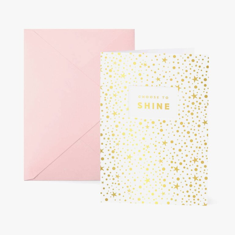 Greetings Card | Choose To Shine