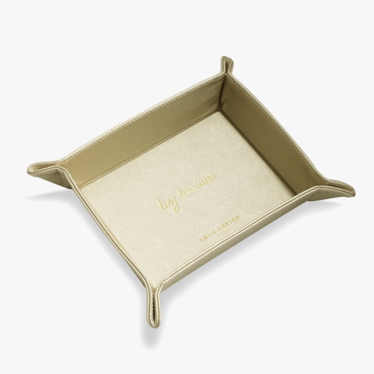 Home Organising Tray | Tiny Treasures | Metallic Gold