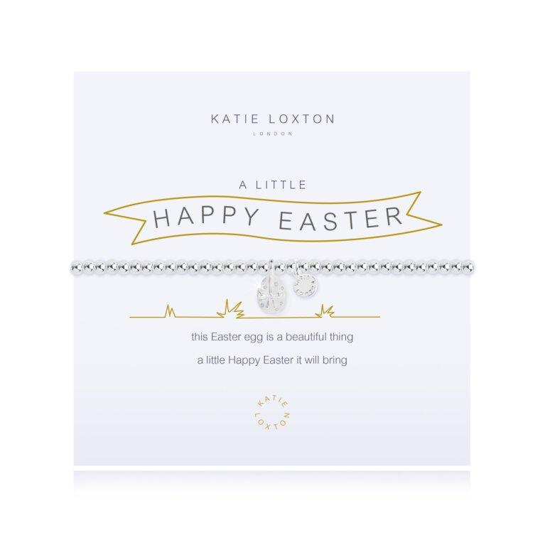 A Little Happy Easter Silver Bracelet