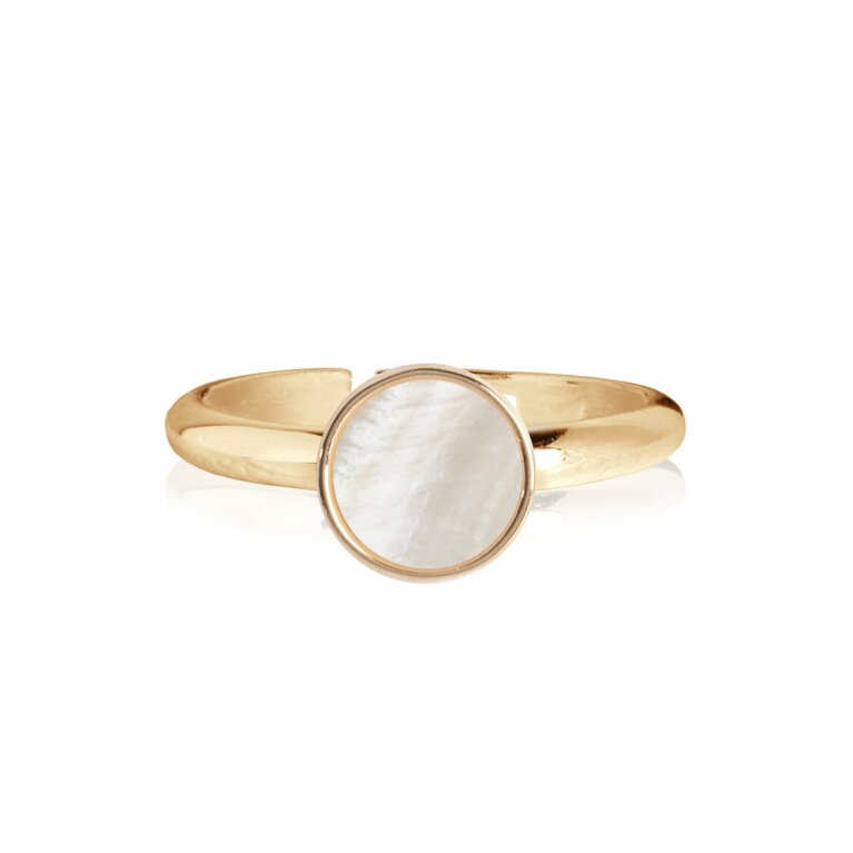 Shona Shell Disc Ring