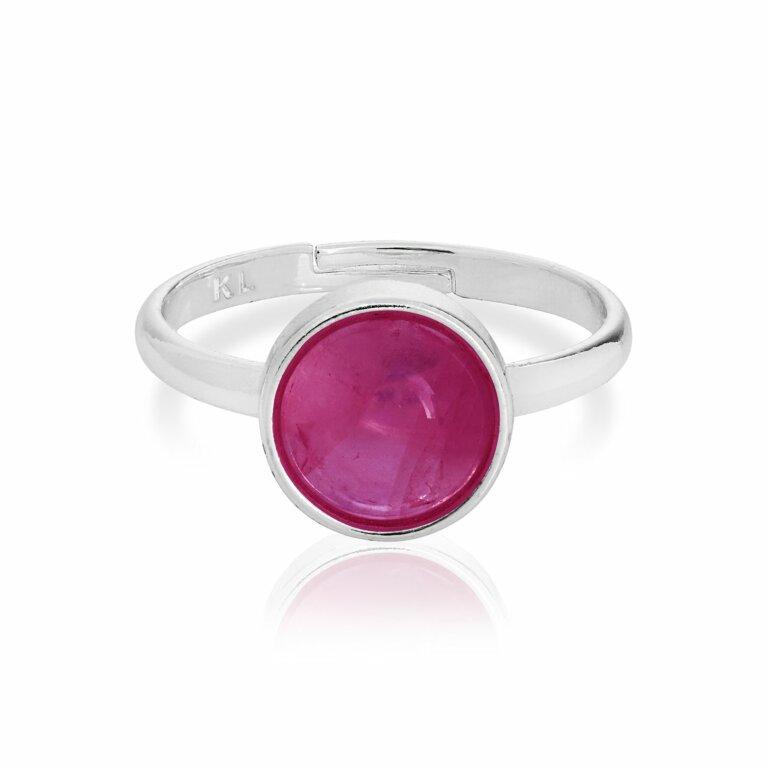 Signature Stones Fuchsia Agate Ring | Happiness