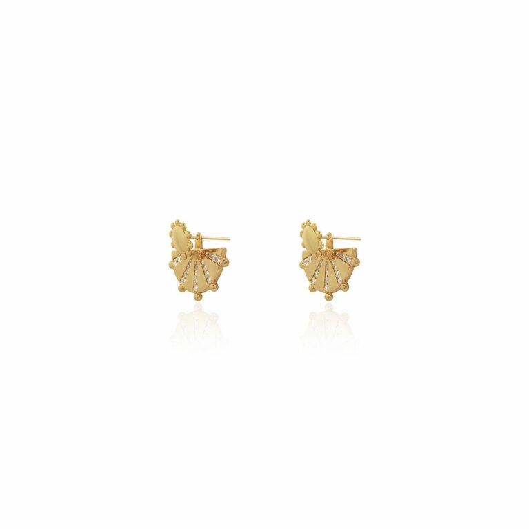 Mayan Ear Jacket Earrings