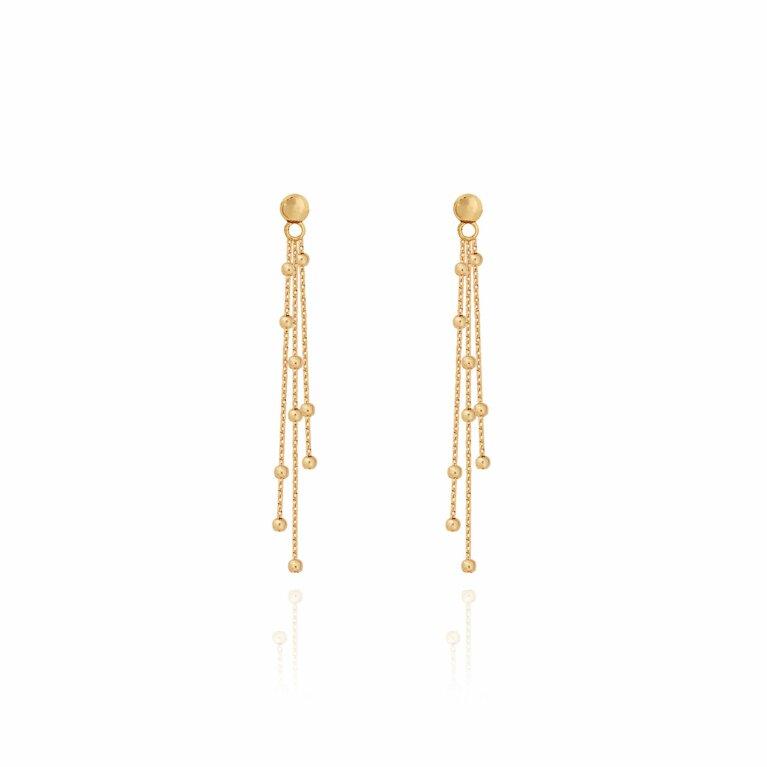 Alisa Gold Multi Chain Earrings
