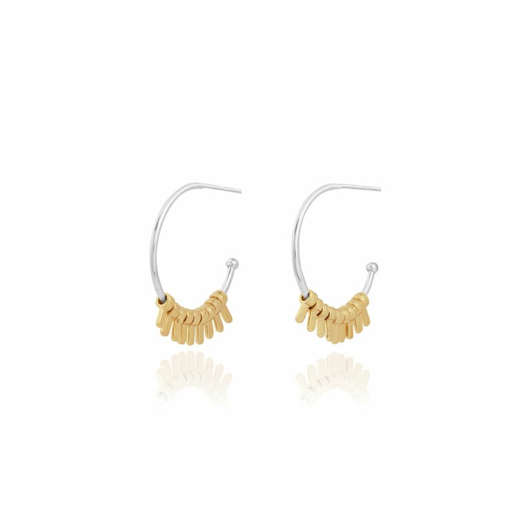 Farah Fringe Hoop Earrings