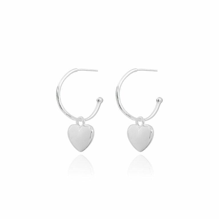 Belle Puffed Heart Earrings