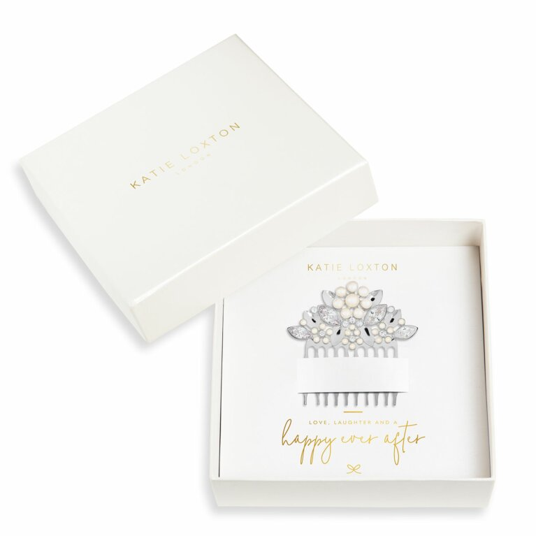 Happy Ever After Hair Accessories | Pearl Flower And Crystal Hair Comb