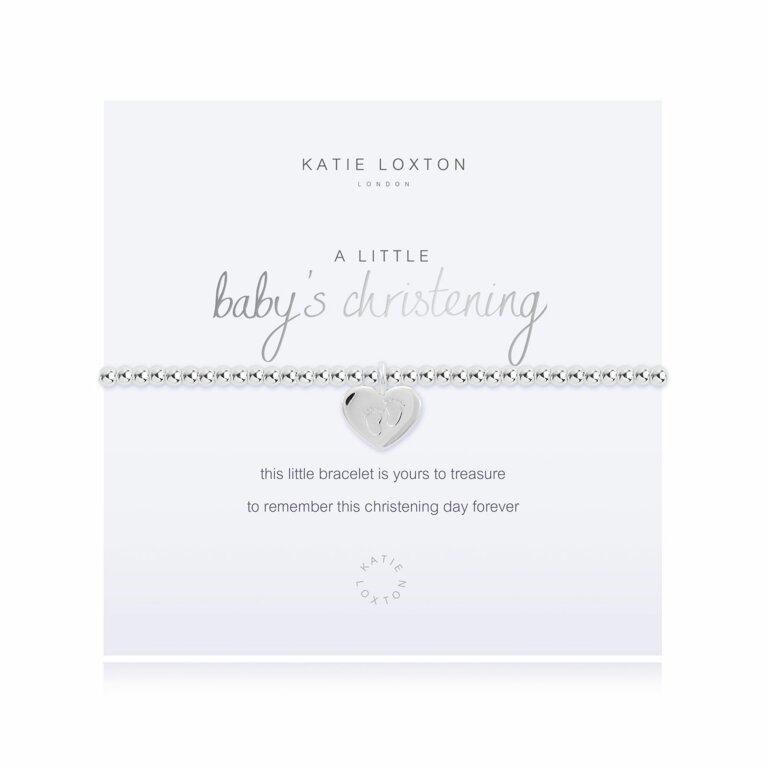 a little Baby's Christening Bracelet