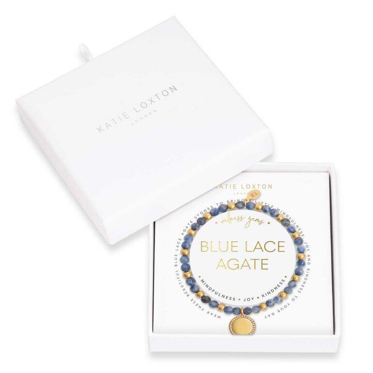 Wellness Gems | Blue Lace Agate Bracelet