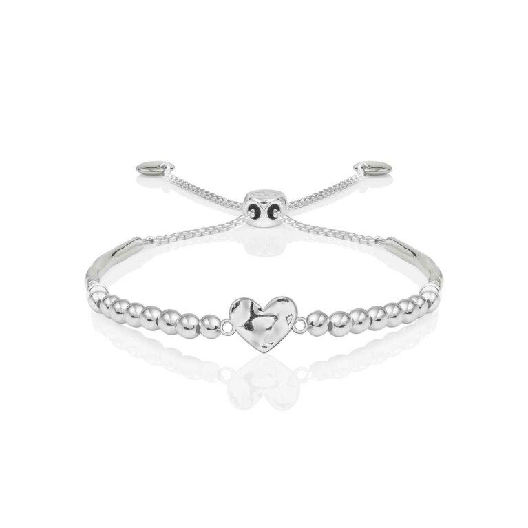 Bracelet Bar | Hammered Heart Ball Friendship Bracelet