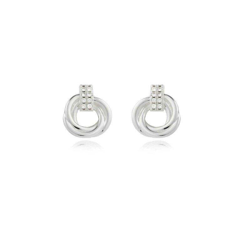 Statement Earrings   Pave Knot Earrings